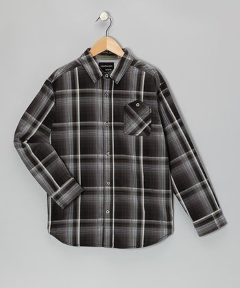 Phantom Plaid Button-Up - Infant & Toddler
