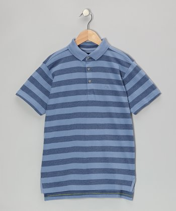 Colony Blue Feeder Stripe Polo - Infant