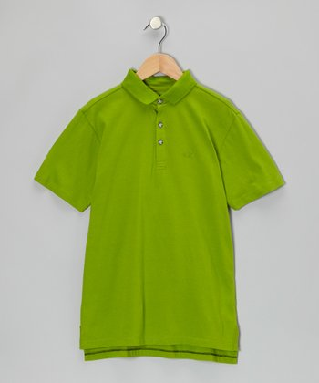Green Apple Polo - Infant