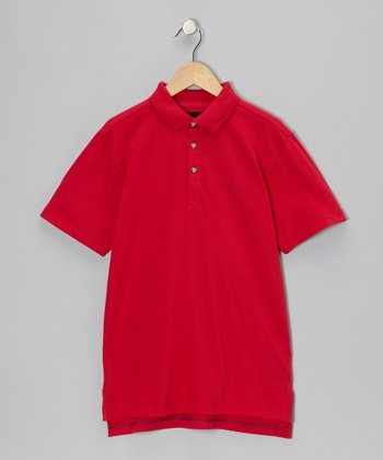 Rosy Red Polo - Infant