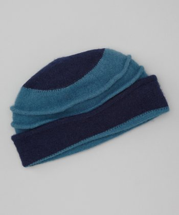 Navy Blue Wool Beanie