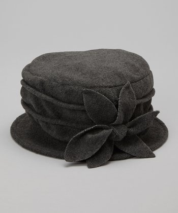 Gray Magnolia Fleece Bucket Hat