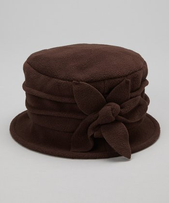 Brown Magnolia Fleece Bucket Hat