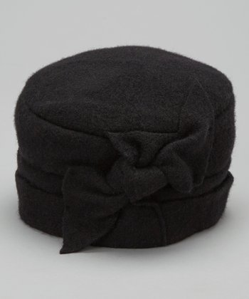 Black Knot Wool Pillbox Hat