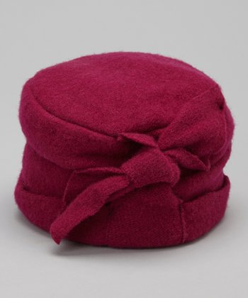 Fuchsia Knot Wool Pillbox Hat
