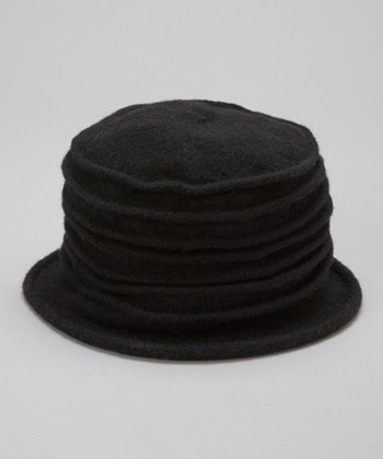 Black Accordion Bucket Hat