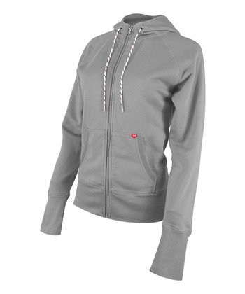 Gray Zip-Up Hoodie - Women