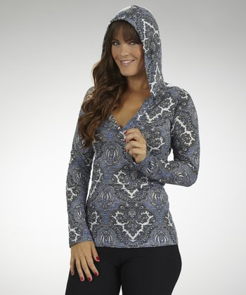 Amparo Blue Dream On Hooded Top