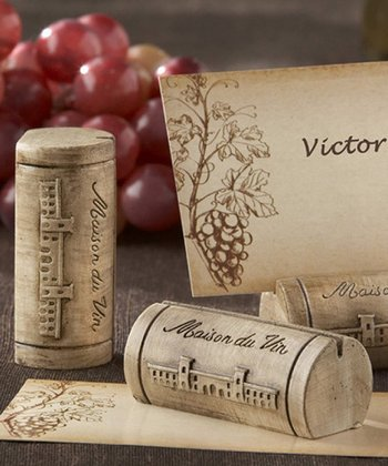 'Maison du Vin' Wine Cork Place Card Set