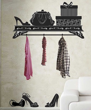 Wardrobe Wall Decal & Hook Set