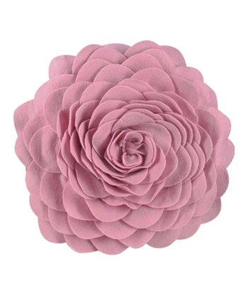 Pink Petals Round Throw Pillow