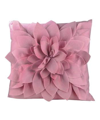 Pink Petals Square Throw Pillow