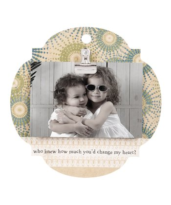 Ivory & Teal 'Who Knew' Clip Frame