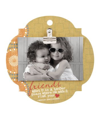 Tan 'Friends Meet' Clip Frame