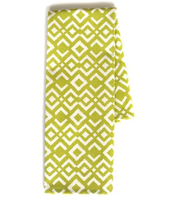 Chartreuse Ikat Tea Towel - Set of Two