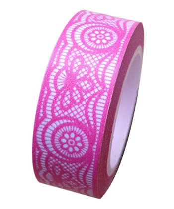 Hot Pink Lace Washi Tape