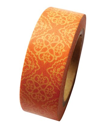 Coral Damask Washi Tape