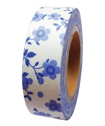 Blue Flowers Washi Tape