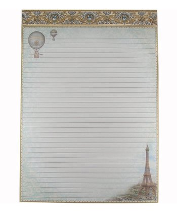 Balloons Over Paris Large Embellished Memo Pad - Set of Two