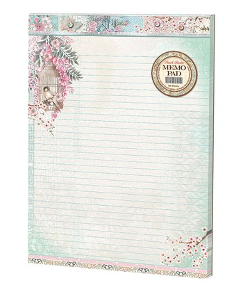 Haiku Blossoms Large Embellished Memo Pad - Set of Two