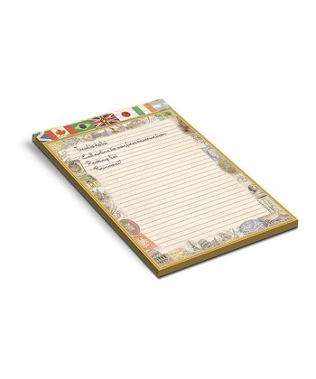 Flags of the World Large Embellished Memo Pad - Set of Two