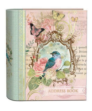 Floral Bird Foil Embellished Address Book