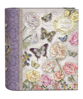 Butterfly Dance Foil Embellished Address Book