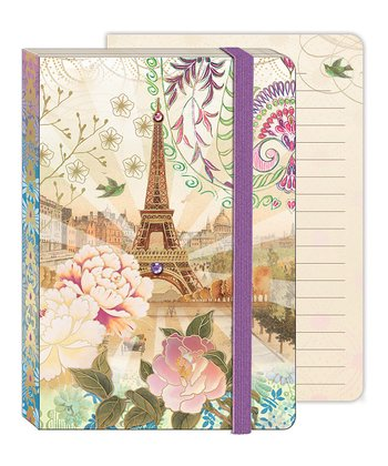 Vintage Paris Soft Cover Bungee Journal