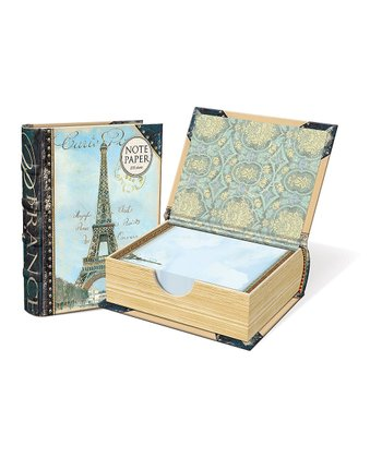 Navy Blue Paris Embellished Note Paper Book Box