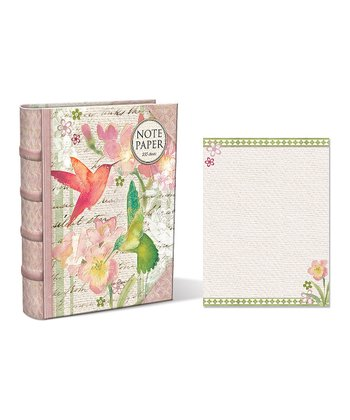 Hummingbird Garden Embellished Note Paper Book Box
