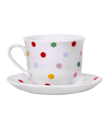 Polka Dot Tea Cup & Saucer Set