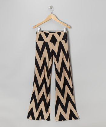 Black & Brown Zigzag Pants
