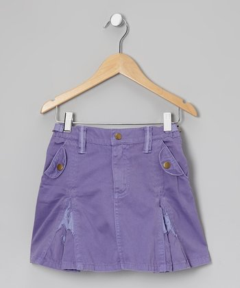 Violet Daisy Pleated Skirt - Girls