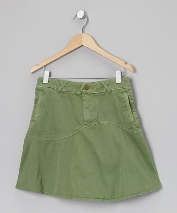 Avocado Crisscross Skirt - Girls