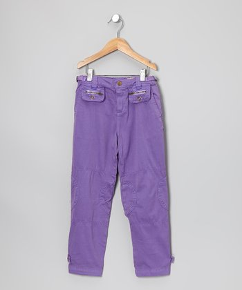 Violet Snap Pocket Pants - Girls
