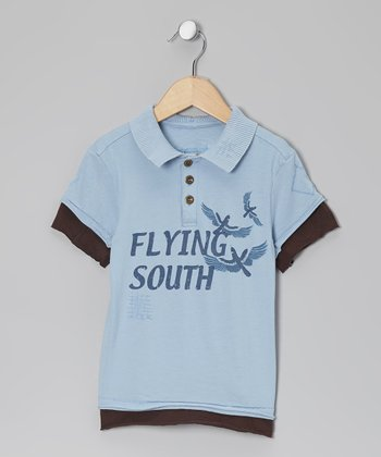 Light 'Flying South' Polo - Girls