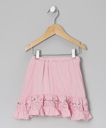 Carnation Sequin Silk-Blend Skirt - Toddler & Girls