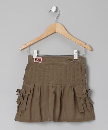 Ash Bow Silk Cargo Skirt - Toddler & Girls