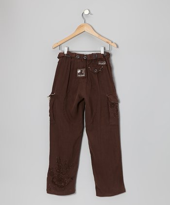Chestnut Constellation Cargo Pants - Girls