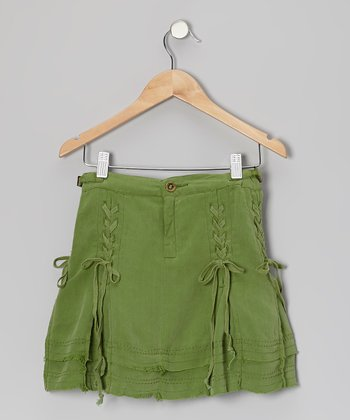 Avocado Cargo Skirt - Girls