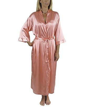 Paradise Pink Long Robe - Women & Plus