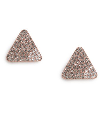 Rose Gold Tonal Triad Stud Earrings by Paige Novak