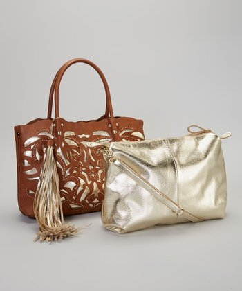 Rust Gold Carrie Tote