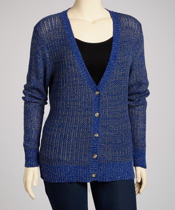 Really Royal Boyfriend Cardigan - Plus