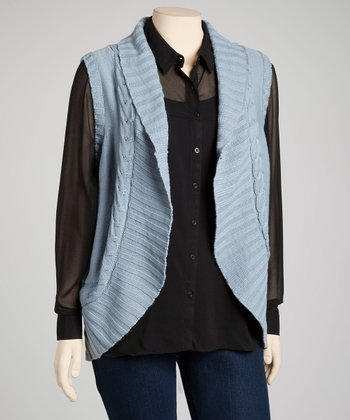 Cool Gray Cocoon Vest - Plus
