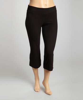 Black Organic Loose Capri Pants - Plus