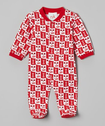 Red Owl Footie - Infant