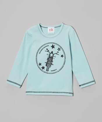 Light Blue Motorcycle Tee - Toddler & Boys