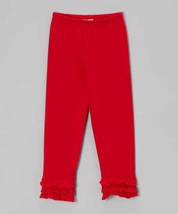 Red Ruffle Leggings - Infant, Toddler & Girls