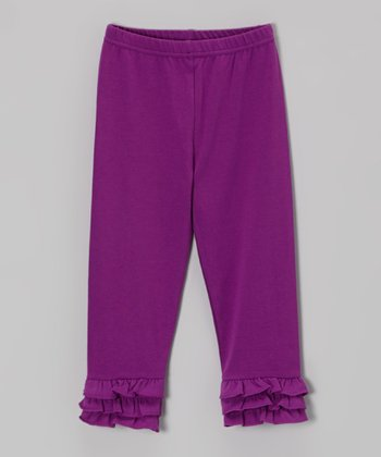 Purple Ruffle Leggings - Infant, Toddler & Girls